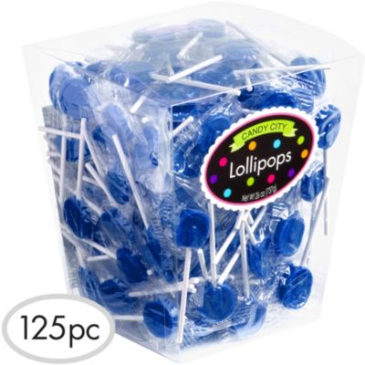 Royal Blue Lollipops 125pc