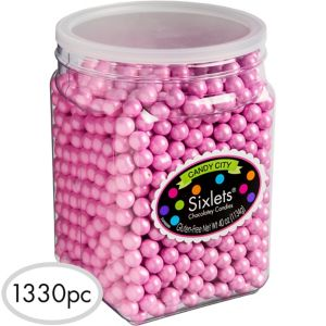 Pink Chocolate Sixlets 1330pc