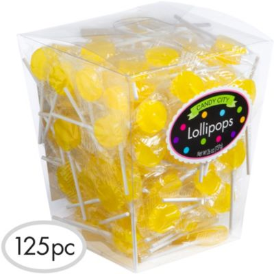 Yellow Lollipops 125pc
