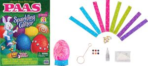 Sparkling Glitter Easter Egg Coloring Kit 19pc
