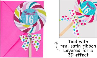 Like Candy Sweet 16 Invitations 8ct