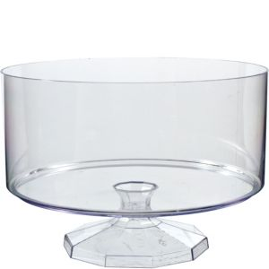 Large CLEAR Plastic Trifle Container