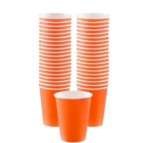 BOGO Orange Paper Coffee Cups 40ct