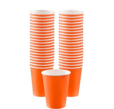 BOGO Orange Paper Coffee Cups 12oz 40ct