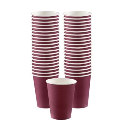 BOGO Berry Paper Coffee Cups 12oz 40ct