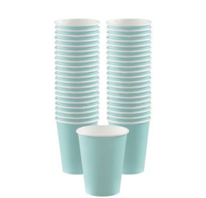 BOGO Robin's Egg Blue Paper Coffee Cups 40ct