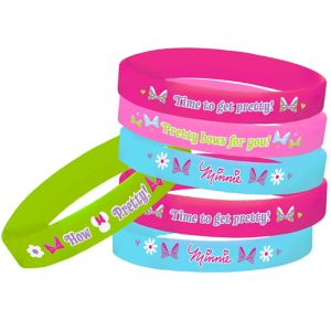 Bow-tique Minnie Mouse Wristbands 4ct