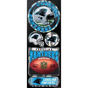 Prismatic Carolina Panthers Stickers 5ct
