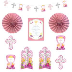 Pink First Communion Decorating Kit 10pc