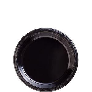 Black Plastic Dessert Plates 20ct