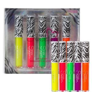 Zebra Neon Lip Gloss Set 5ct