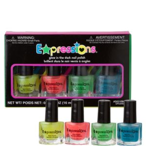 Glow in the Dark Nail Polish Set 4ct