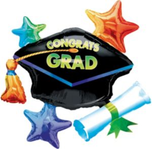 Graduation Balloon - Star Cluster Congrats Grad