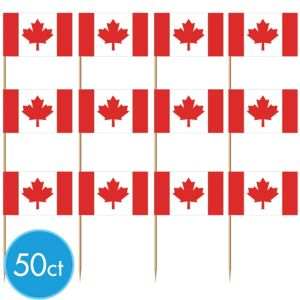 Canadian Flag Picks 50ct