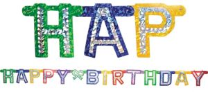 Prismatic Happy Birthday Letter Banner 7 1/4ft