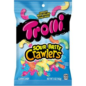 Trolli Sour Brite Crawlers Gummy Candy 42pc