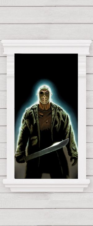 Jason Voorhees Window Poster - Friday the 13th