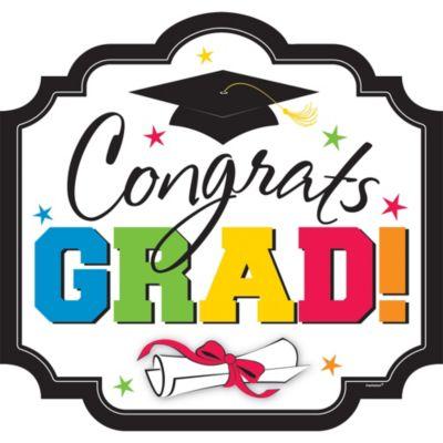Congrats Grad Graduation Cutout