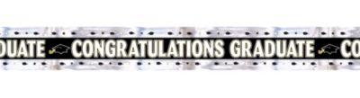 Foil Foil Black, Gold & Silver Graduation Banner