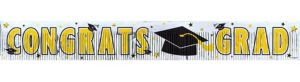Yellow Foil Fringe Graduation Banner