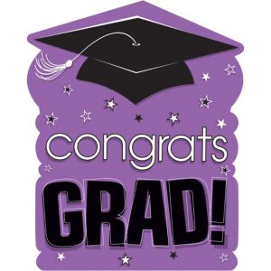 Purple Congrats Grad Cutout
