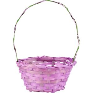 Purple Round Easter Basket