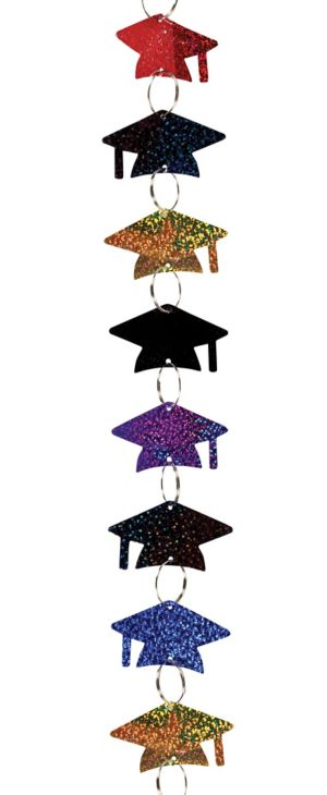 Multicolor Grad Cap Graduation Ring Garland