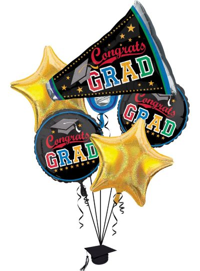 Graduation Balloon Bouquet 5pc - Made the Grade
