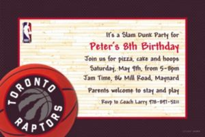 Custom Toronto Raptors Invitations