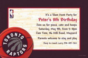 Custom Toronto Raptors Invitations