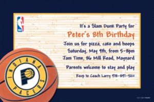 Custom Indiana Pacers Invitations