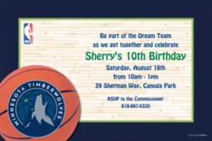 Custom Minnesota Timberwolves Invitations