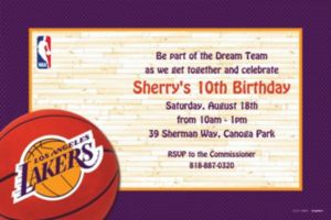 Custom Los Angeles Lakers Invitations