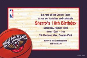 Custom New Orleans Pelicans Invitations