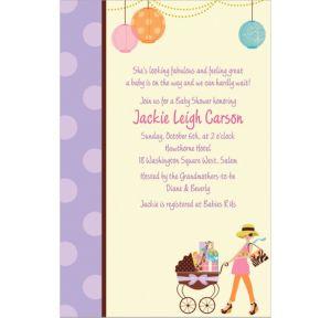 Custom Modern Mommy Invitations