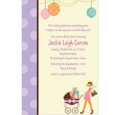 Custom Modern Mommy Invitations