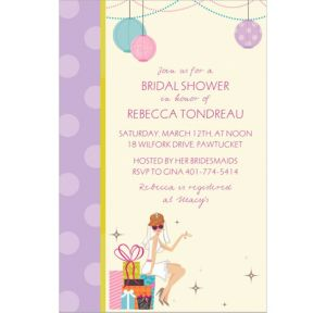 Custom Chic Bride Bridal Shower Invitations