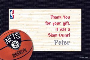 Custom Brooklyn Nets Thank You Notes