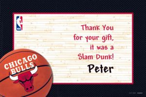 Custom Chicago Bulls Thank You Notes