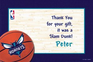 Custom Charlotte Hornets Thank You Notes