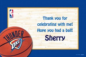 Custom Oklahoma City Thunder Thank You Notes