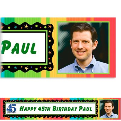 Custom A Year to Celebrate 45th Photo Banner 6ft