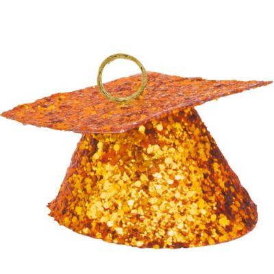 Orange Glitter Graduation Balloon Weight