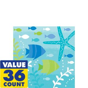 Cool Sea Beverage Napkins 36ct