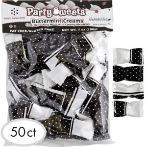 Black Polka Dot Pillow Mints 50ct