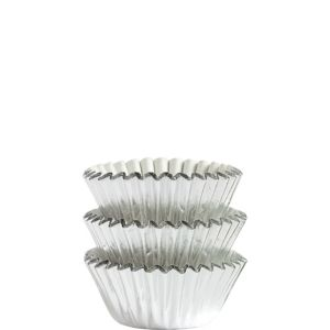 Silver Foil Mini Baking Cups 75ct
