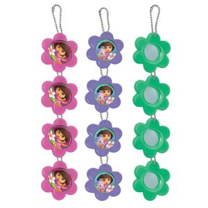Dora the Explorer Flower Mirror Key Chains 12ct