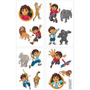 Go, Diego, Go! Tattoos 1 Sheet