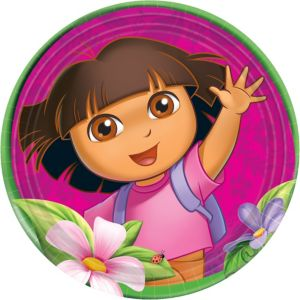Dora the Explorer Lunch Plates 8ct
