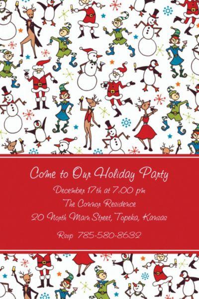 Christmas Character Cocktails Custom Invitation